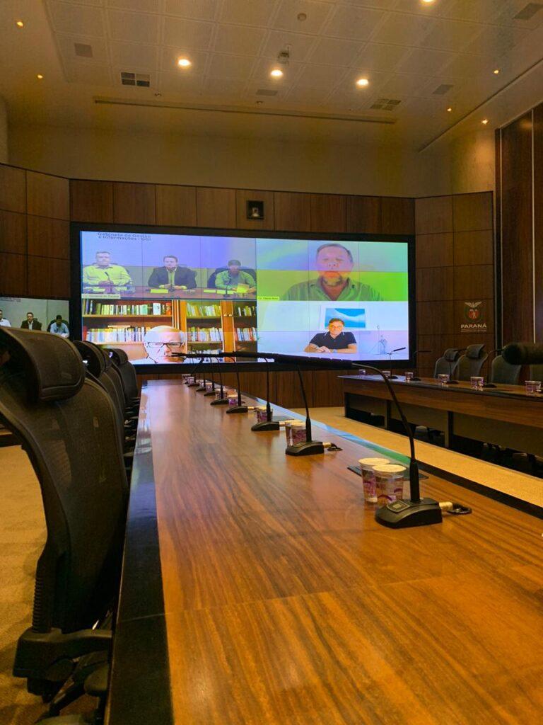 Em reunião com governador, secretários e senadores do Paraná, Tião Medeiros cobra agilidade na entrega de respiradores para o Noroeste